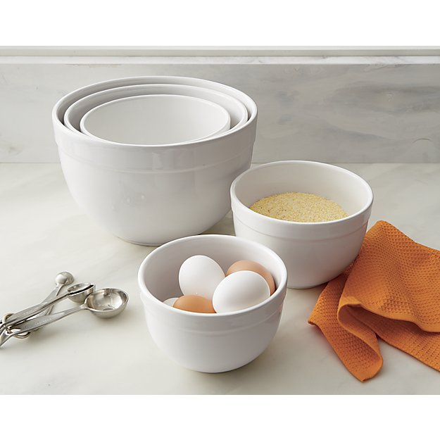 Kitchen  Piece Glass Cooking Bowl Set